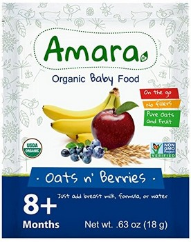 AMARA, ORGANIC BABY FOOD - Oats n' Berries